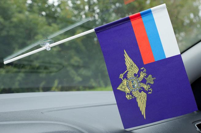 Флажок в машину с присоской МВД