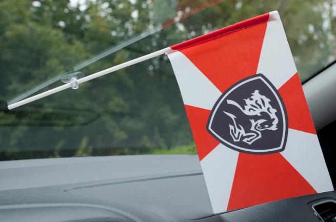 Флажок в машину с присоской Северо-кавказский округ ВВ МВД