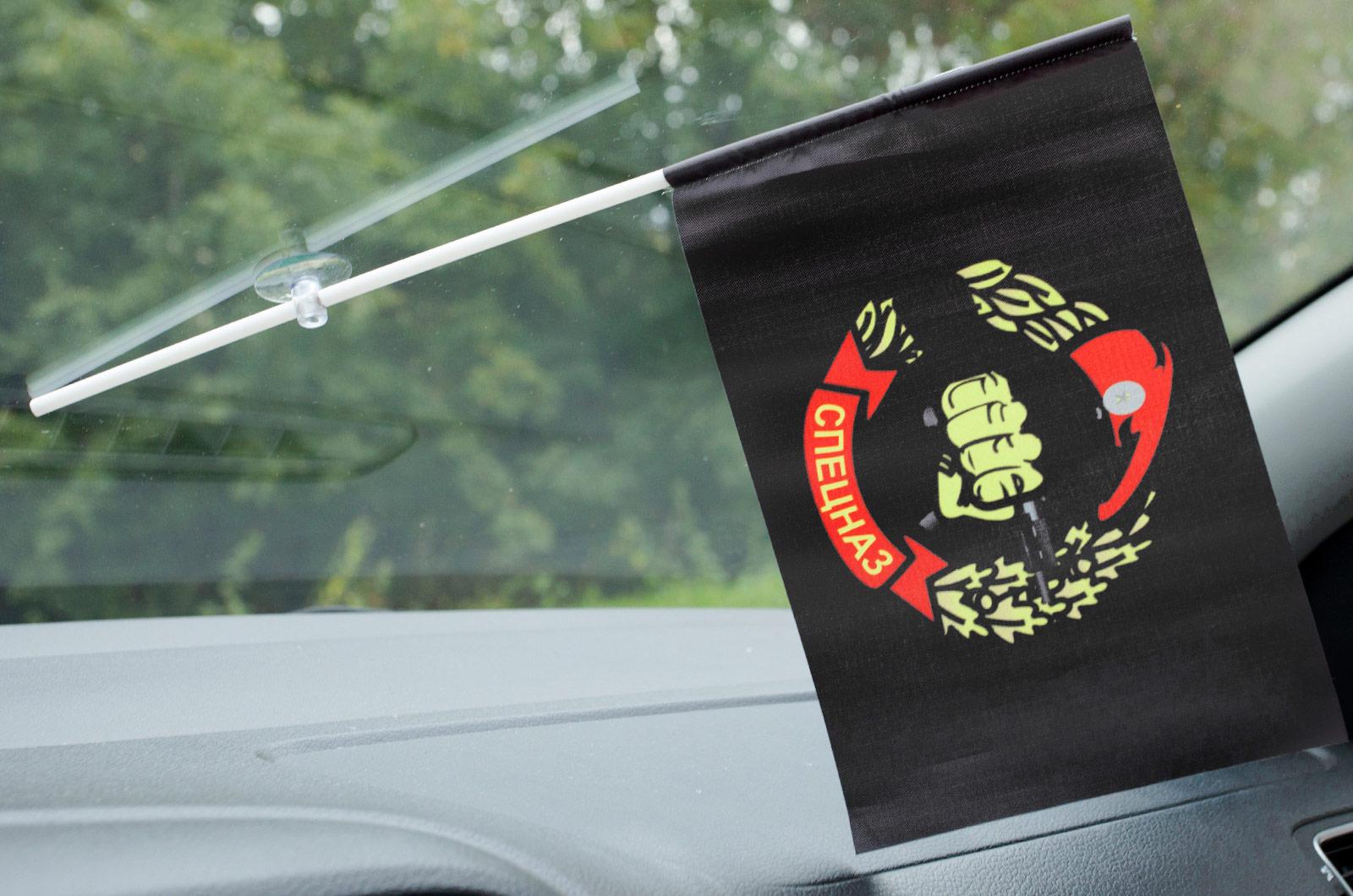 Флажок в машину с присоской Спецназ ВВ черный