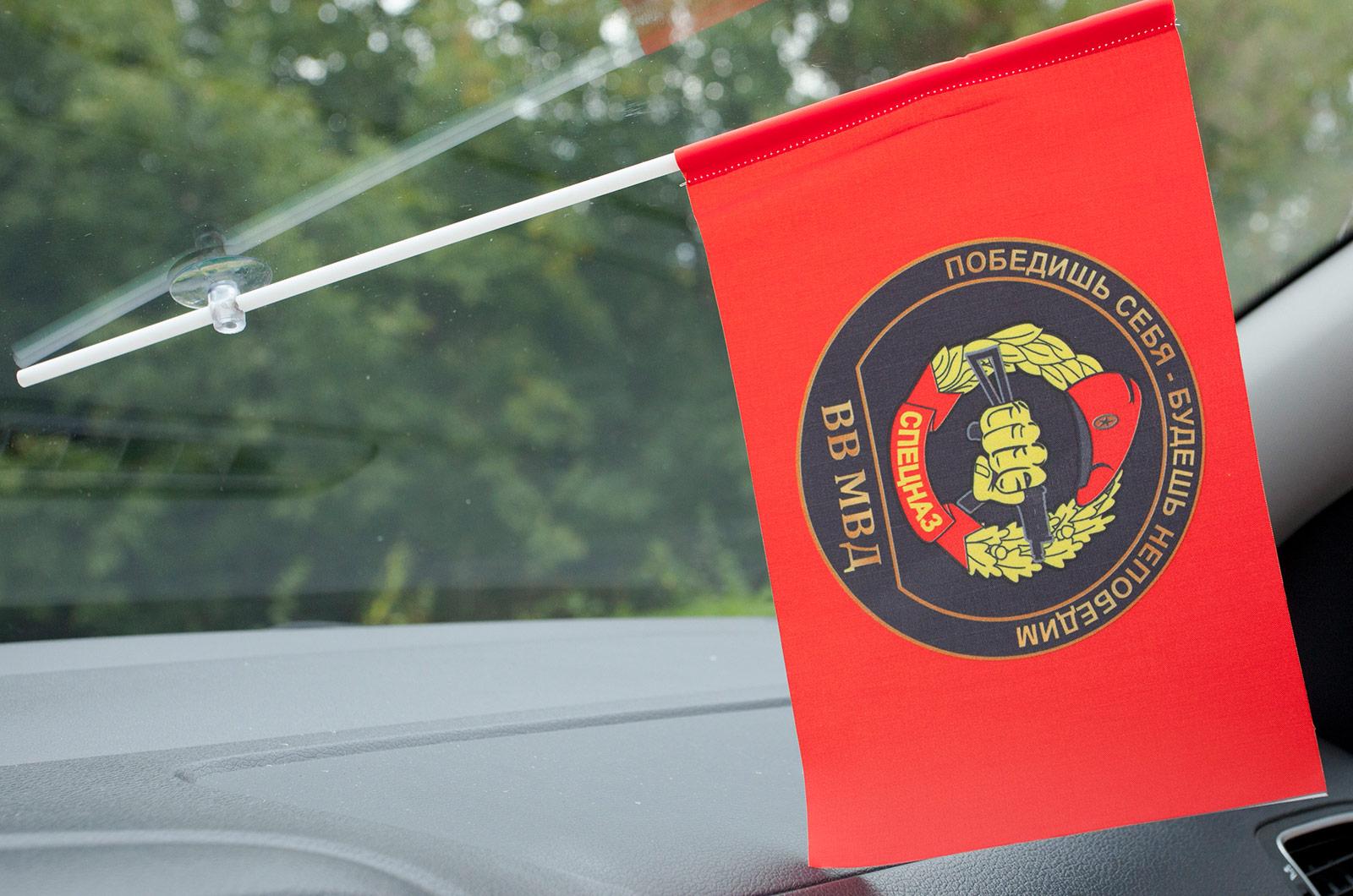 Флажок в машину с присоской Спецназ ВВ с девизом