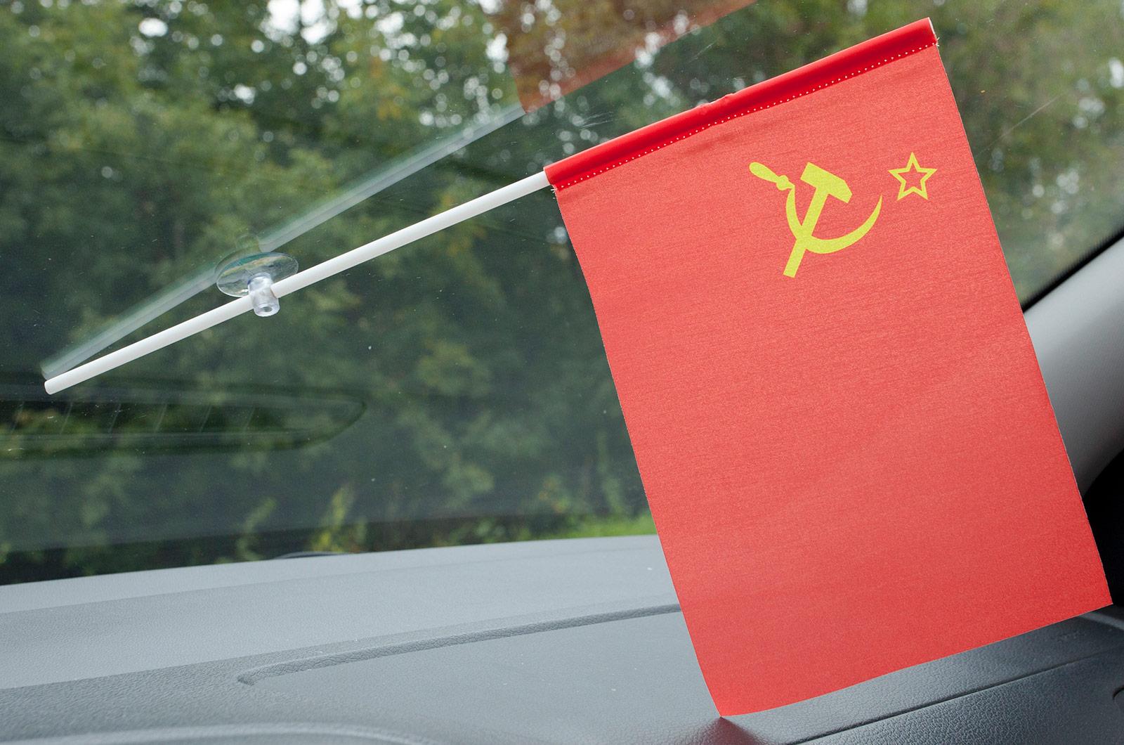 Флажок в машину с присоской СССР