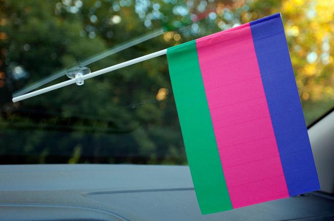 Флажок в машину Старый флаг кубанского казачьего войска