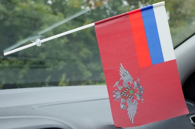 Флажок в машину с присоской УФМС