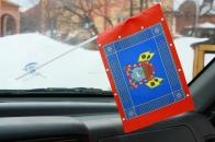 Флажок в машину с присоской Знамя войска Донского