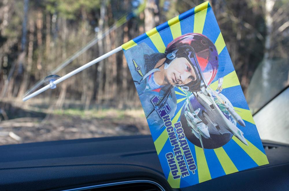 Выгодно купите флажки ВКС с Путиным в качестве сувениров