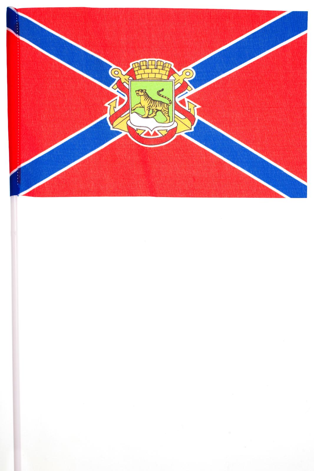 Флажок Владивостока на палочке