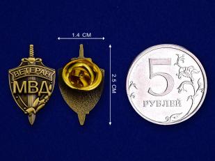 """Фрачный знак  """"Ветеран МВД"""""""
