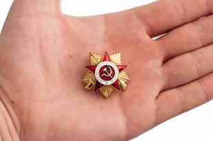 """Фрачный значок """"Орден ВОВ 1 степени"""" - общий вид"""