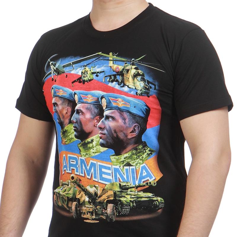 Заказывайте футболки Армения по выгодной цене