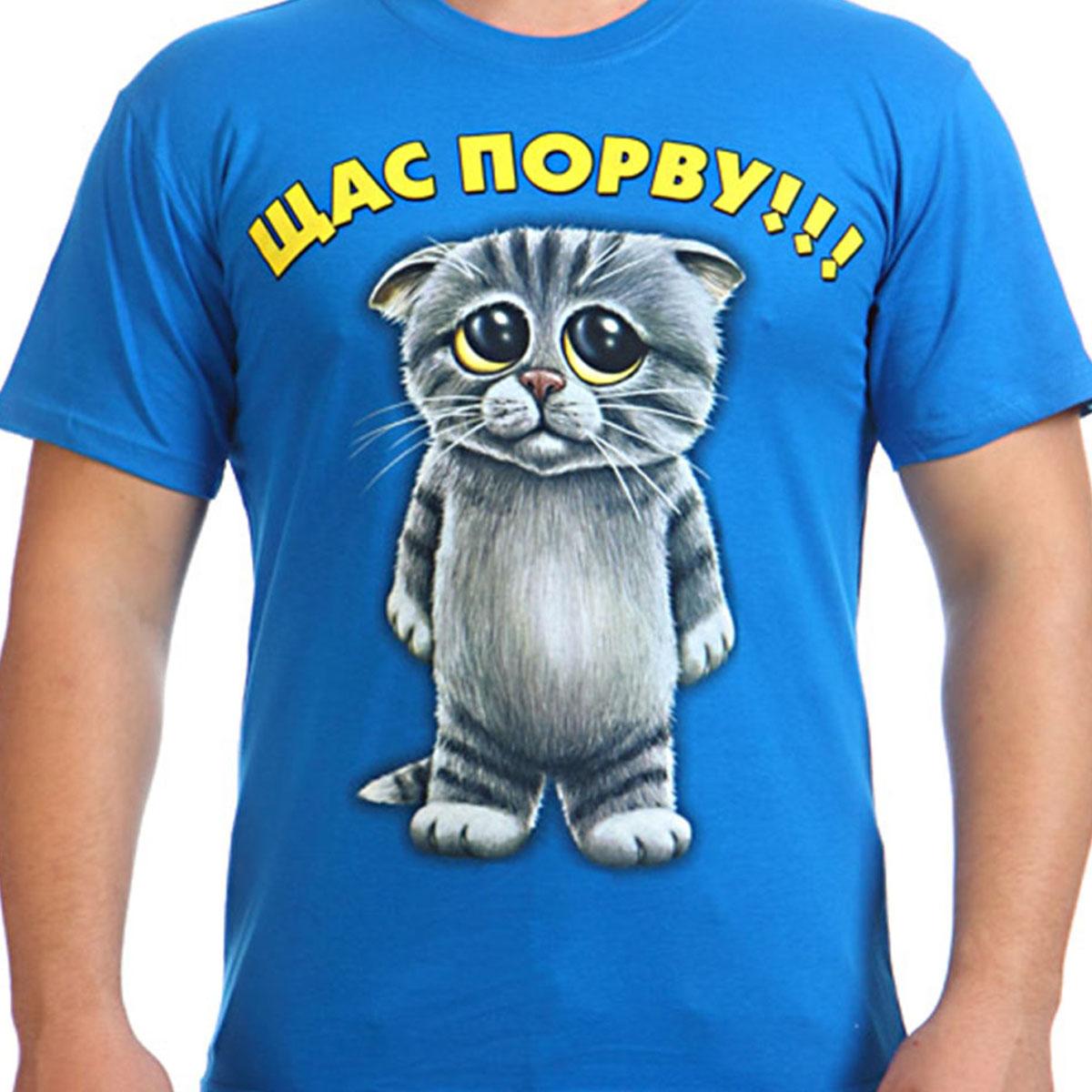 """Футболка """"Мультяшный котик"""""""