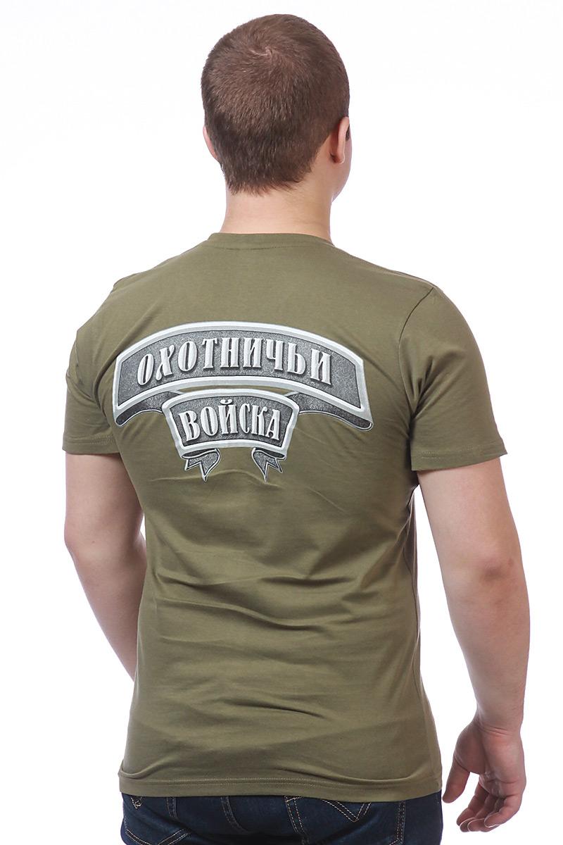 Оригинальные футболки Охота цвета хаки