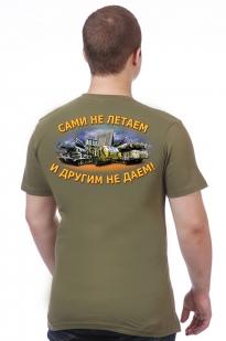 Футболка ПВО России - вид сзади