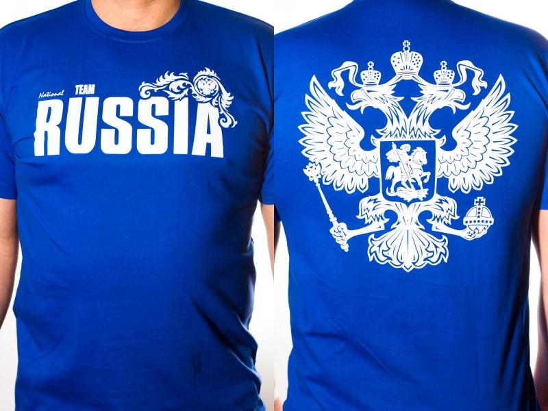 Футболка «RUSSIA» синяя