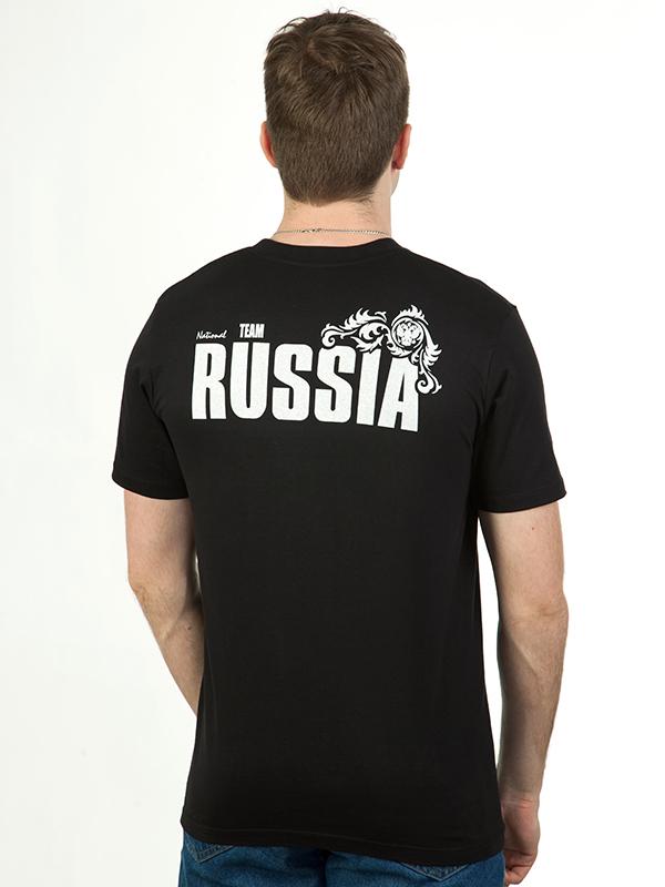 Футболка RUSSIA «Всех порвём красиво!» чёрная