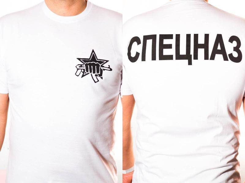 Футболка Спецназа Внутренних Войск «МВД» белая
