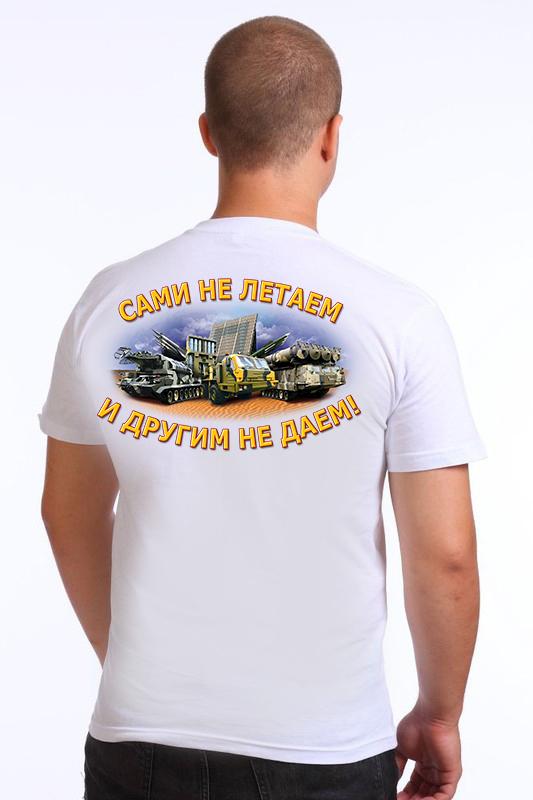 Футболка Войск ПВО - вид сзади