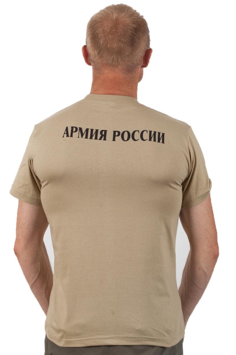 """Футболка """"Войска армии России"""" хаки-вид со спины"""