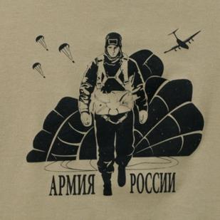 "Футболка ""Войска армии России"" хаки-логотип"
