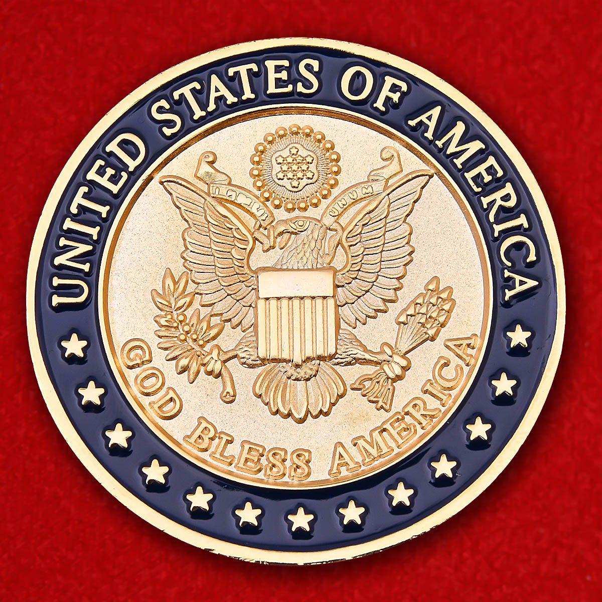 God Вless America Challenge Coin