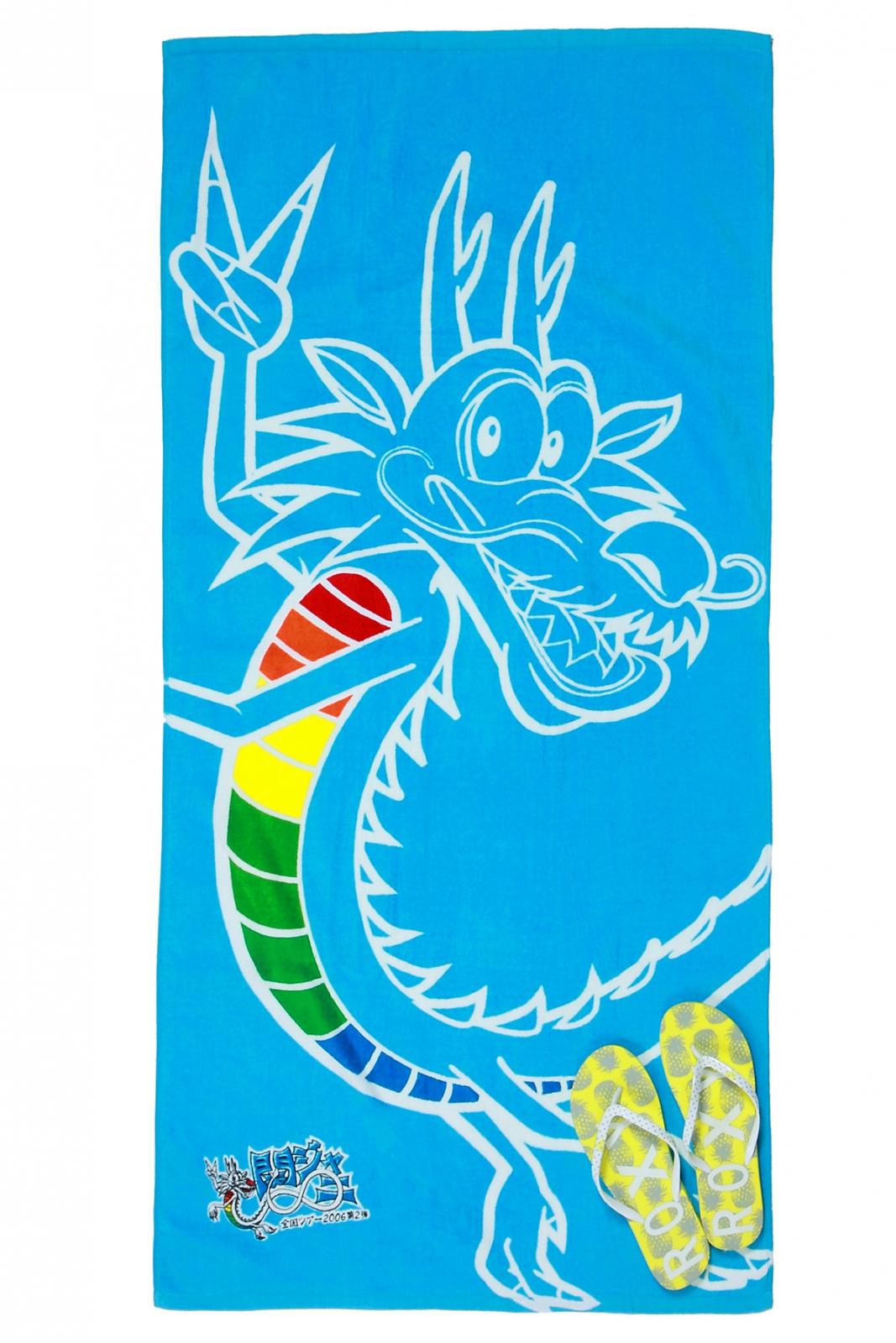 Голубое полотенце с драконом для оптовых и розничных покупателей