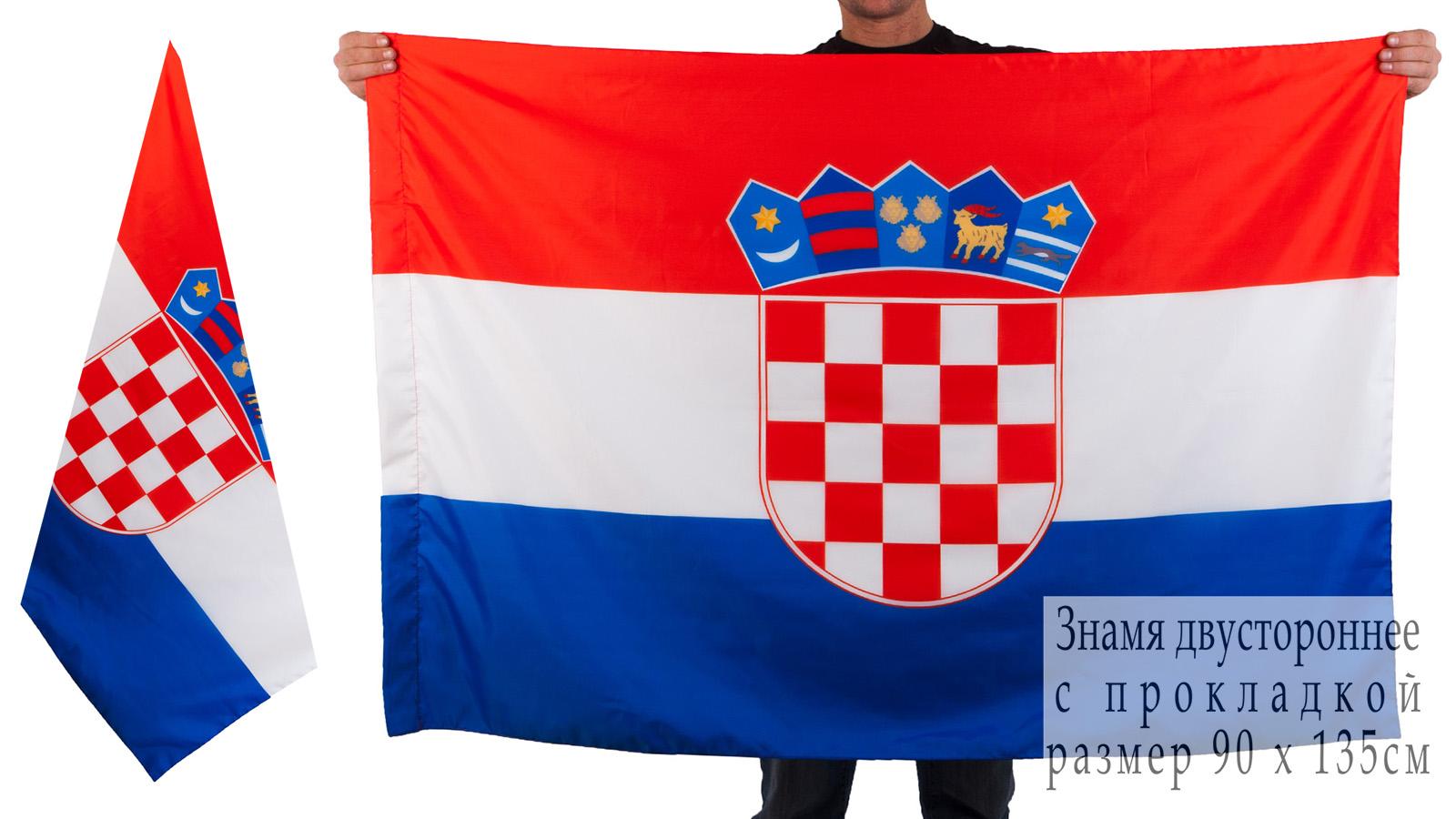 Хорватский флаг двухсторонний