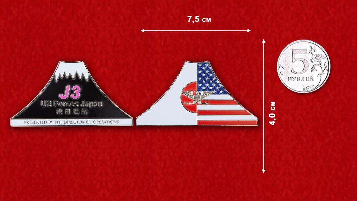 J3 US Forces Jahan Challenge Coin - comparative size
