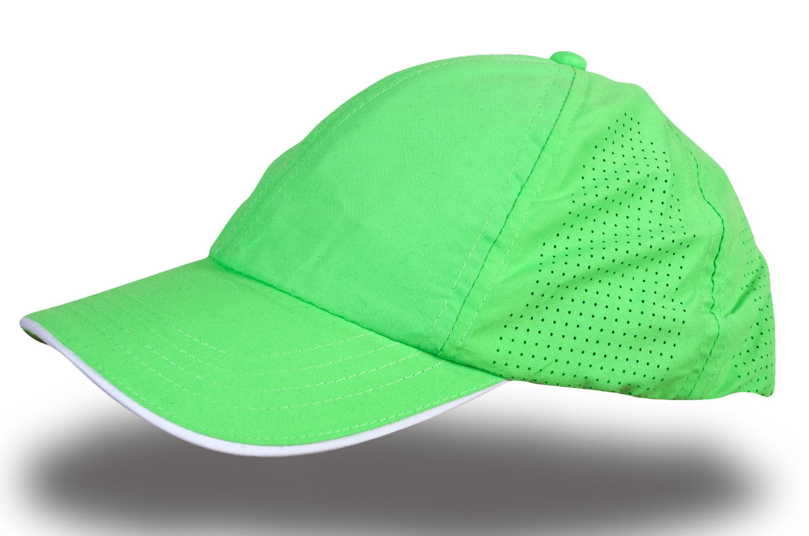 Кепка зеленая с перфорацией - купить в интернет-магазине с доставкой