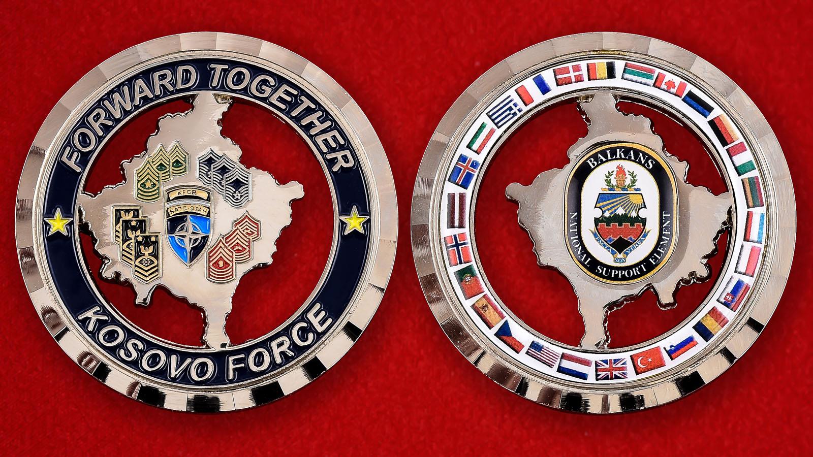 """Челлендж коин """"Национальные подразделения поддержки стран НАТО на Балканах"""""""