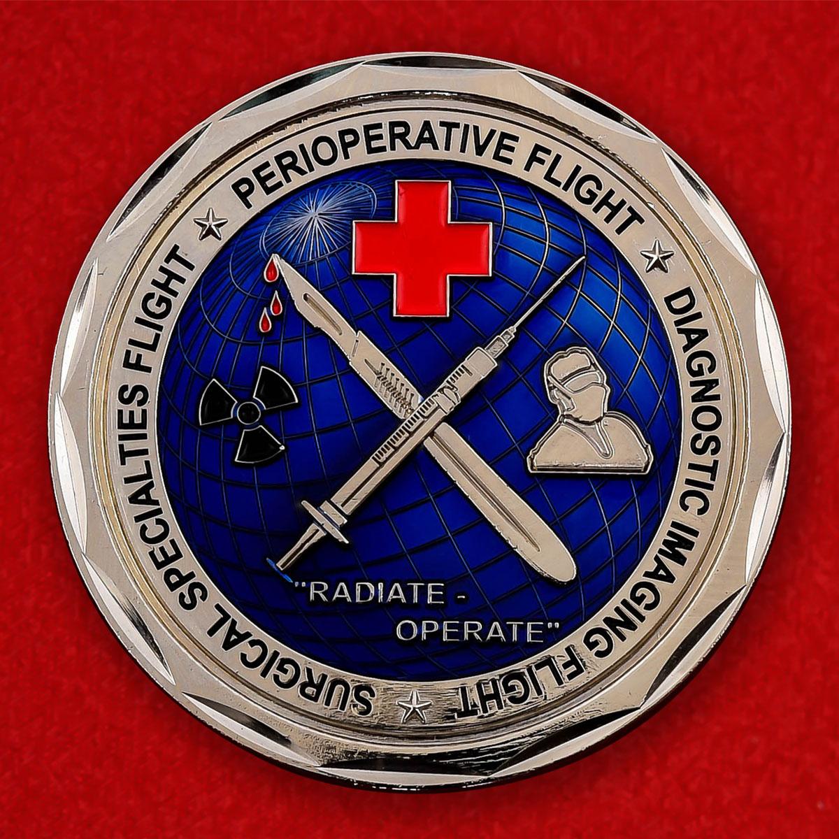 "Челлендж коин ""От командира 10-й Хирургической эскадрильи ВВС США"""