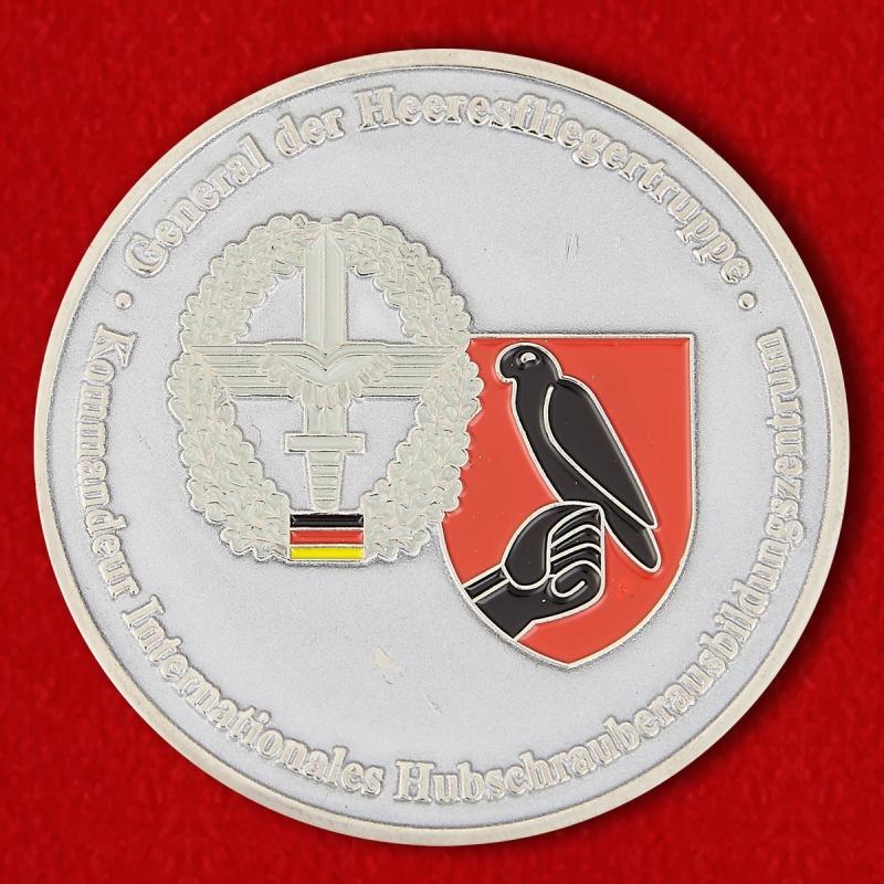 Kommandeur Internationales Hubschrauberausbildungszentrum General der Heeresfliegertruppe Bundeswehr Challenge Coin - reverse