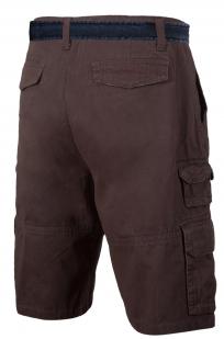 Коричневые шорты с ремнем - купить онлайн