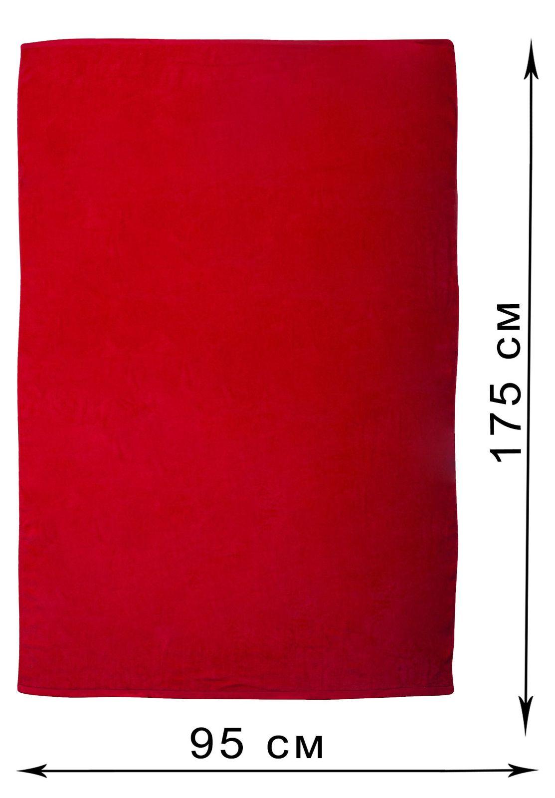 Красное махровое полотенце - купить с доставкой