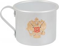 """Кружка из алюминия """"Герб России"""""""