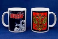 Кружка RUSSIA «Двуглавый орёл»
