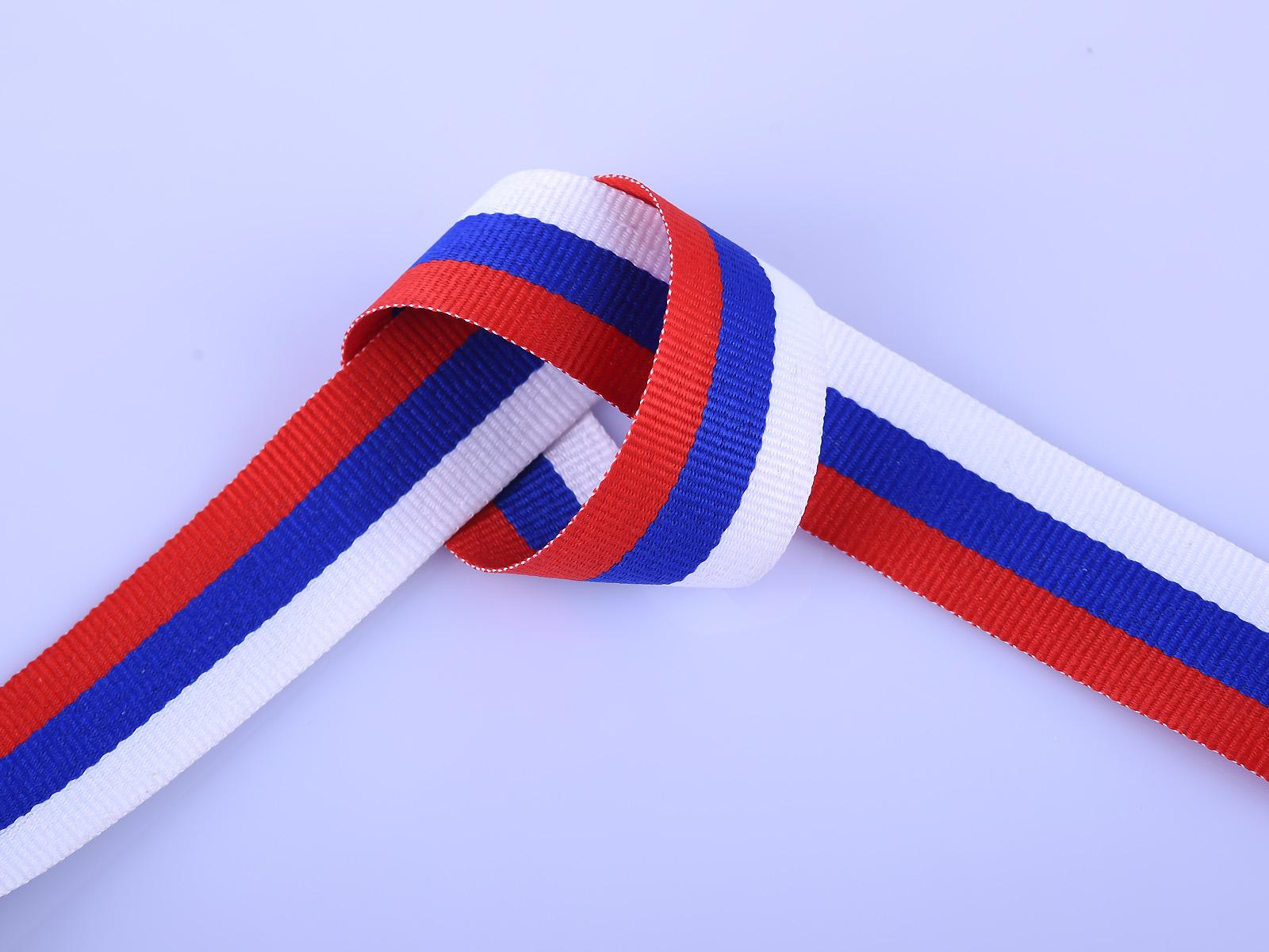 Лента бело-сине-красная (3,5x50 см)