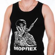 Майка «Капитан морской пехоты» чёрная Коллекция 2014 года