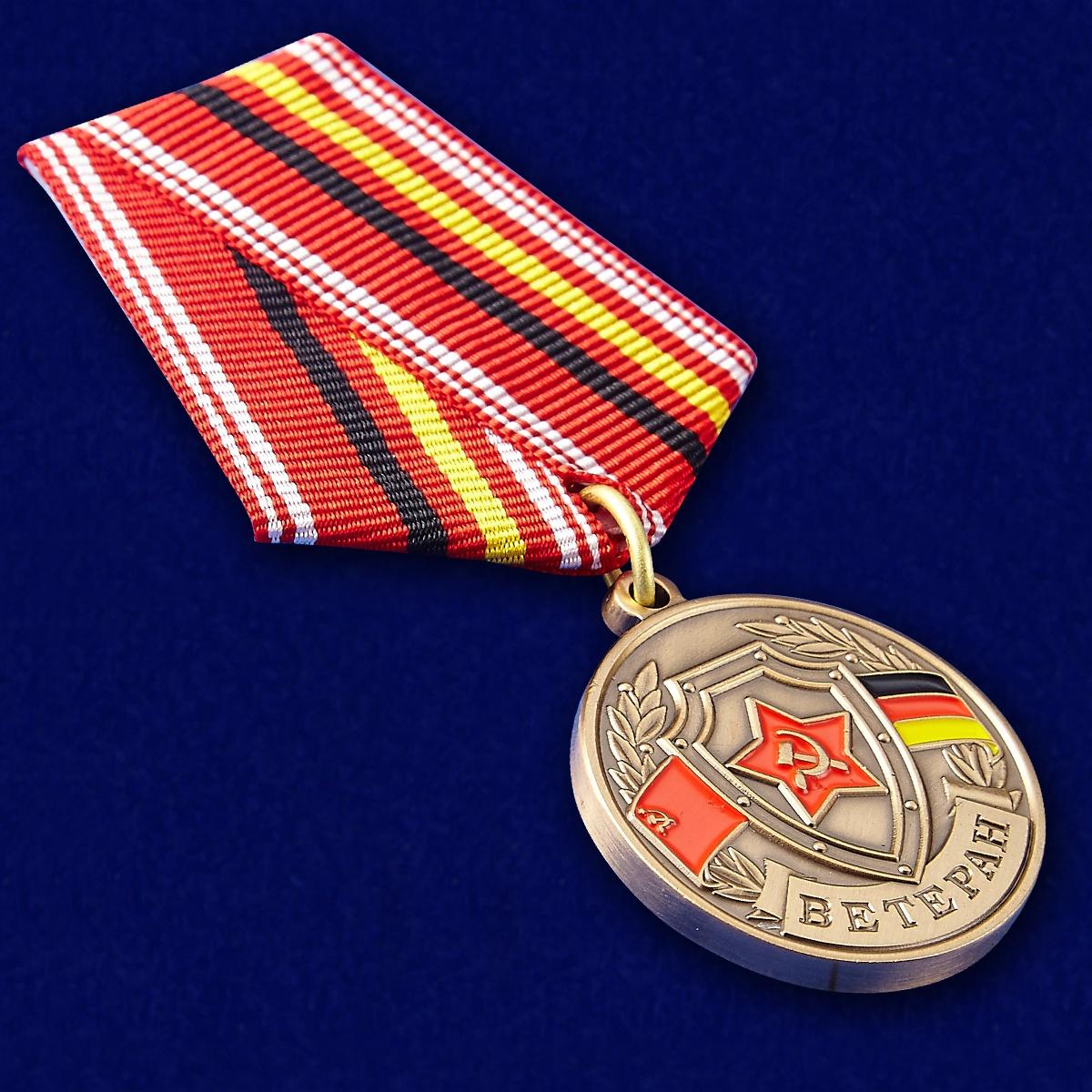 Медаль ГСВГ Ветеран - вид под углом