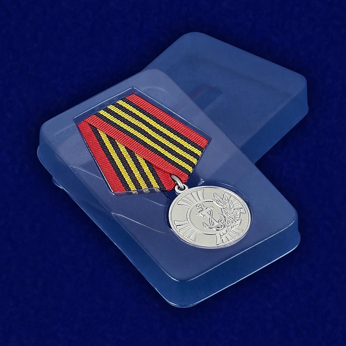 Медаль Морской пехоты «За заслуги» в футляре