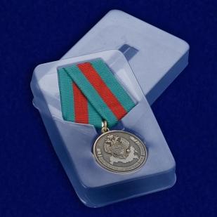 Медаль Ветеран Пограничной службы ФСБ России в футляре