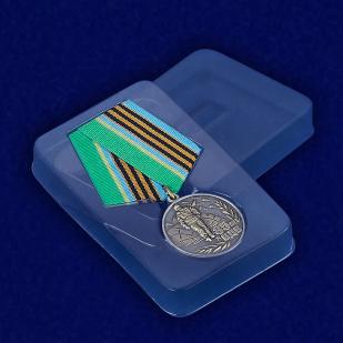 """Медаль """"Воздушно-десантным войскам 85 лет"""" - вид в футляре"""