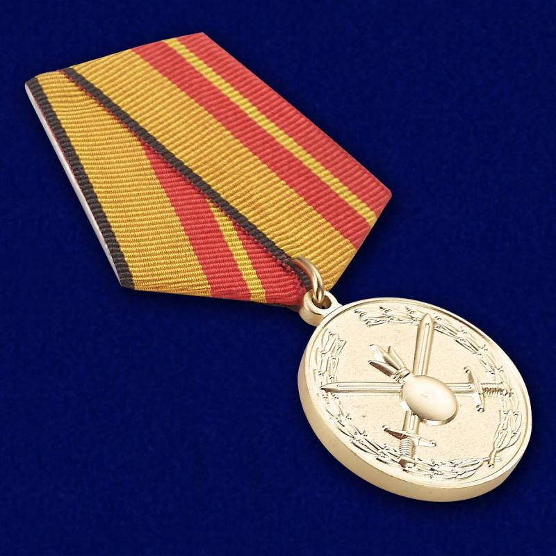 """Медаль """"За отличие в службе в Сухопутных войсках"""" на колодке с булавочным зажимом"""