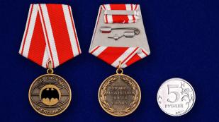 """Медаль """"За службу в спецназе"""" - сравнительный размер"""