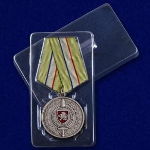 """Медаль """"За защиту Республики Крым"""" в футляре"""