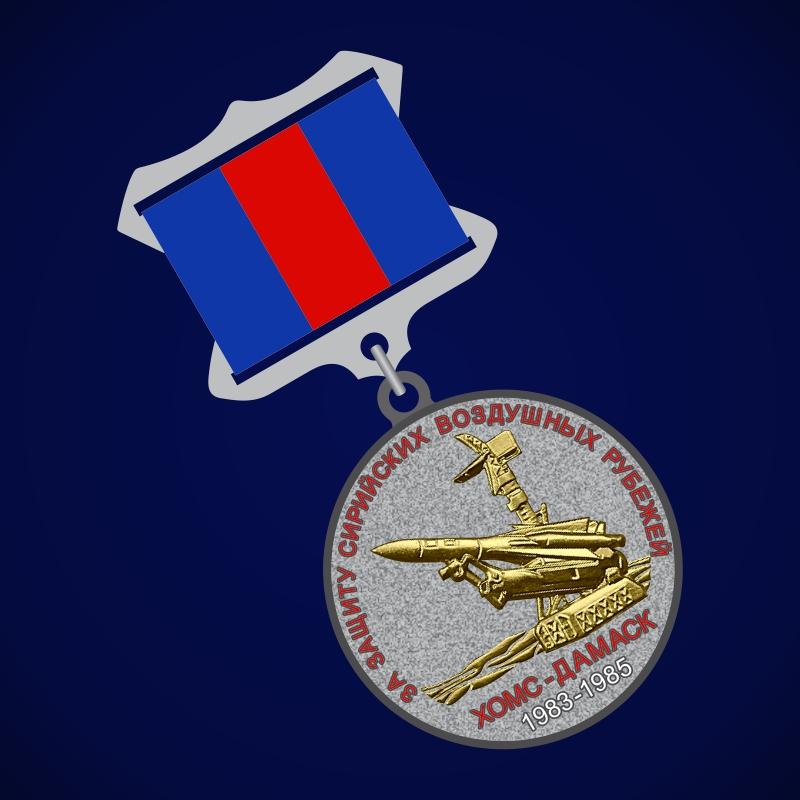 Медаль За защиту Сирийских воздушных рубежей (прямоугольная колодка)