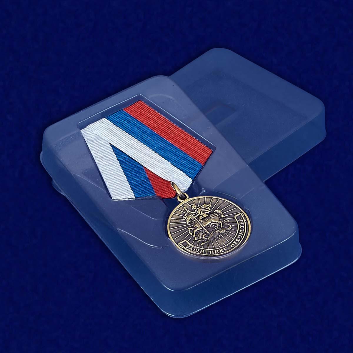 Футляр к медали Защитнику Отечества (Родина Мужество Честь Слава)