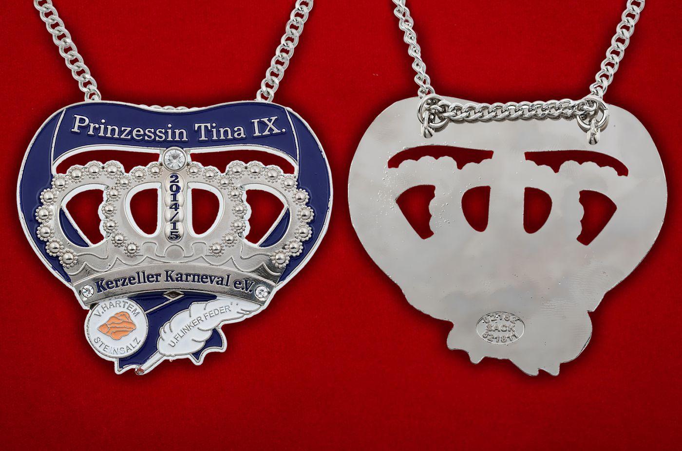 Медальон Принцессы карнавала в Керцелле - аверс и реверс