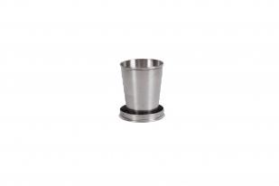 Металлический стаканчик складной с карабином (5 колец)