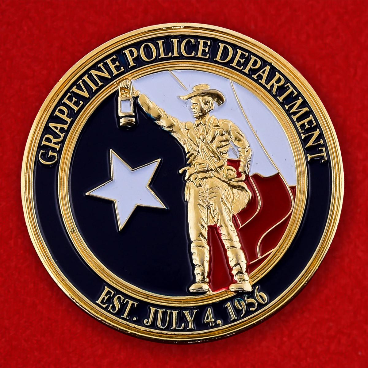 "Монета США ""Департамент полиции Грейпвайна, Техас"""