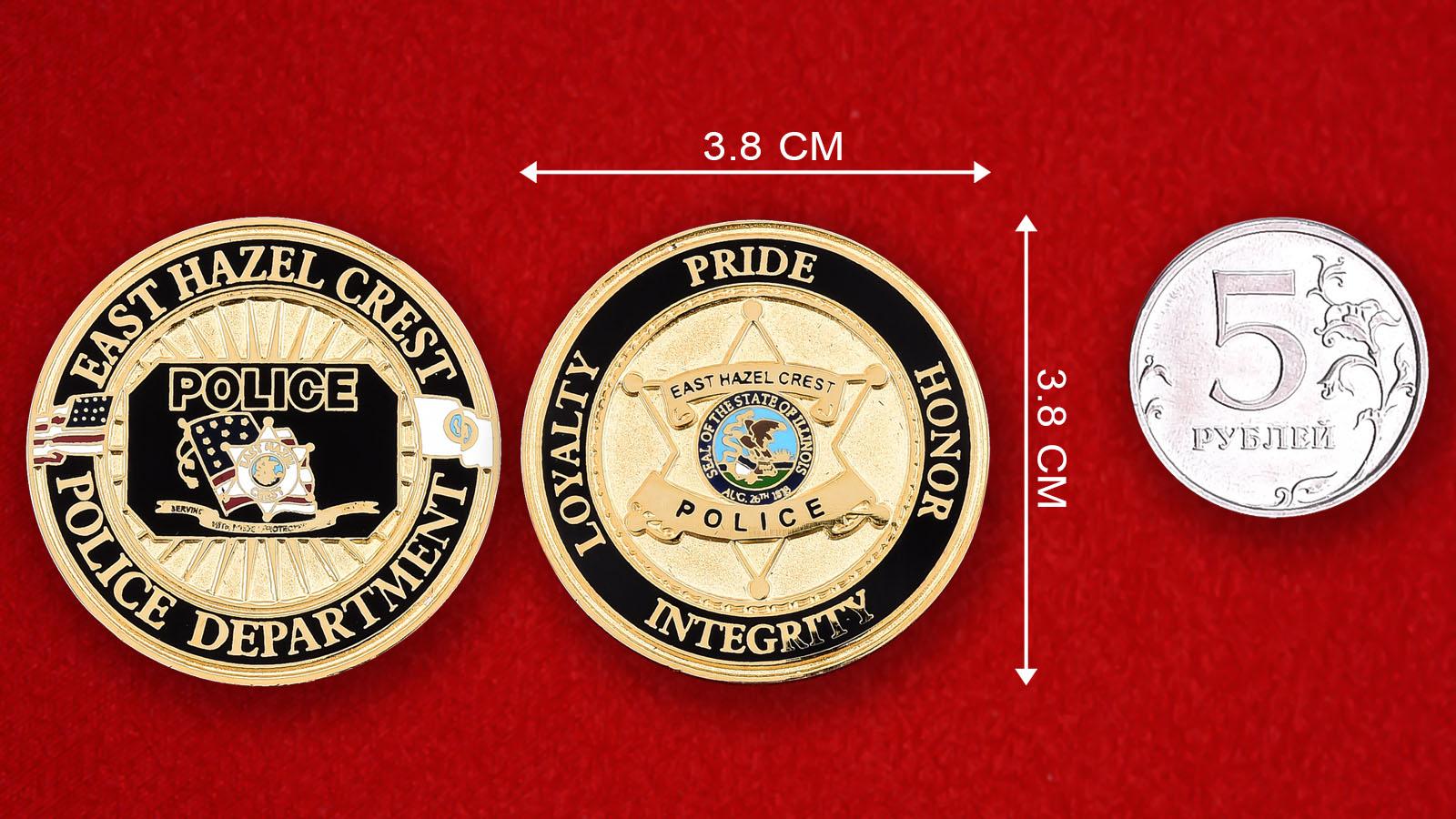 "Монета США ""Департамент полиции Хазел Крест, штат Иллинойс"""