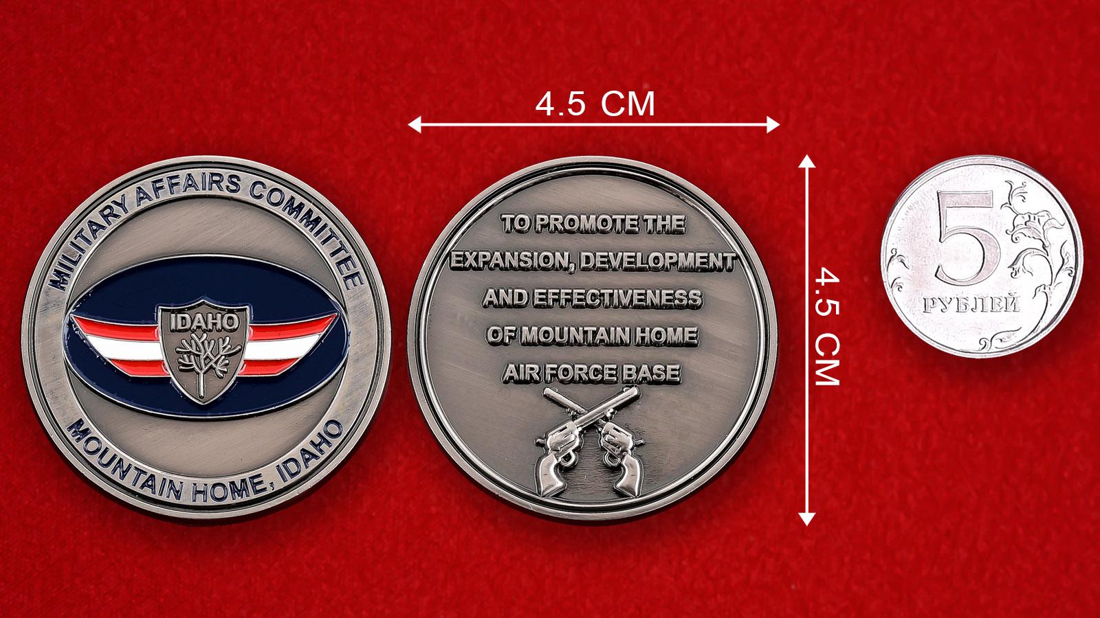 "Монета США ""Комитет по военным делам Маунтин-Хома, Айдахо"""